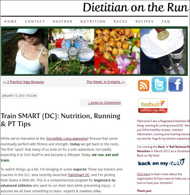 Dietitian on the Run Smart Marathon Training