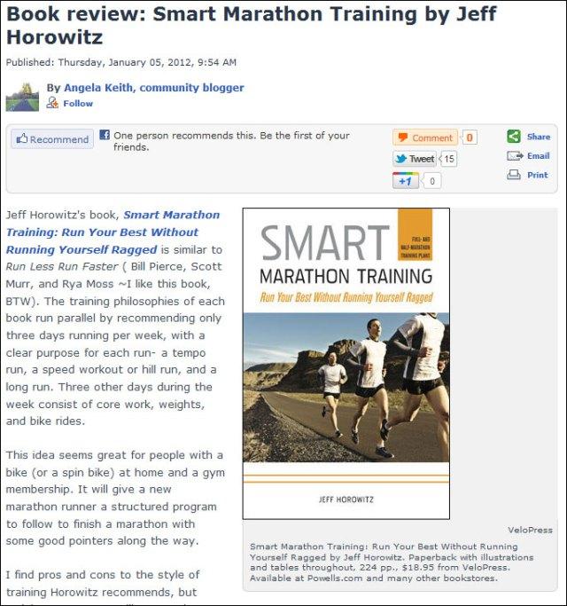 Oregon Live Smart Marathon Training