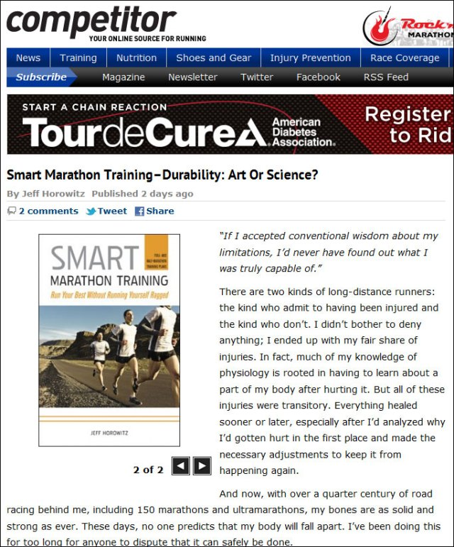 Smart Marathon Training on Competitor magazine