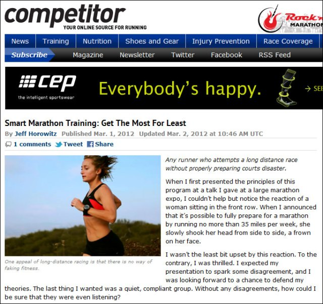 Competitor Smart Marathon Training