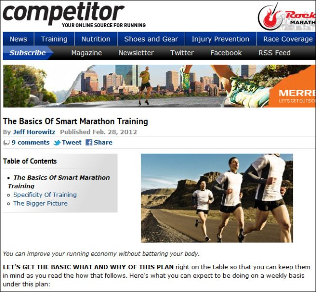 Competitor Smart Marathon Training Basics
