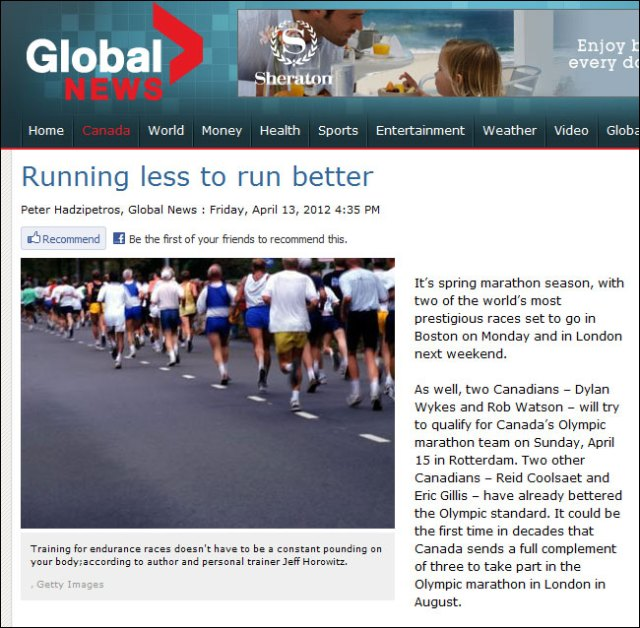 global news canada smart marathon training